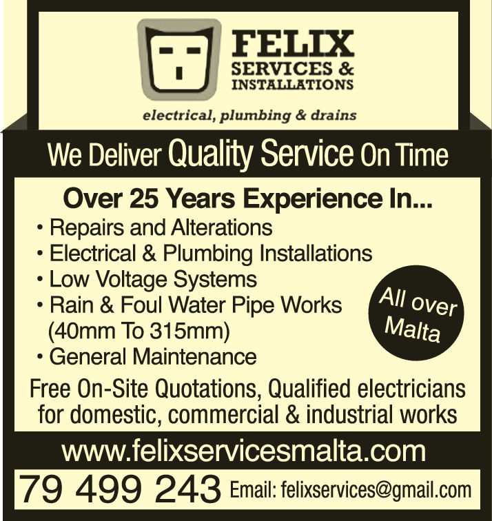 Felix Services & Installations - Electrical & Plumbing