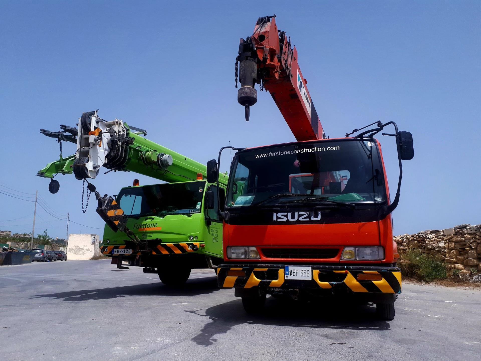 Abp 656 farstone construction & restoration ltd - crane & hoist hire
