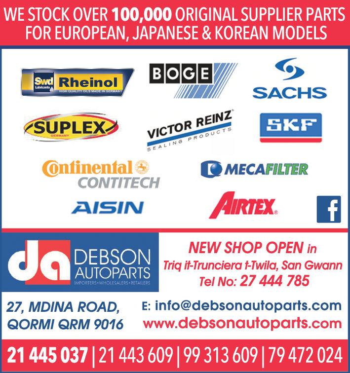 Debson Autoparts - Auto Parts & Accessories in Qormi, Malta