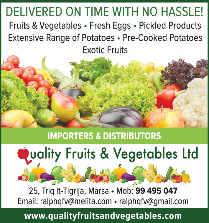 Quality Fruits & Vegetables Ltd - Ship Chandlers in Marsa