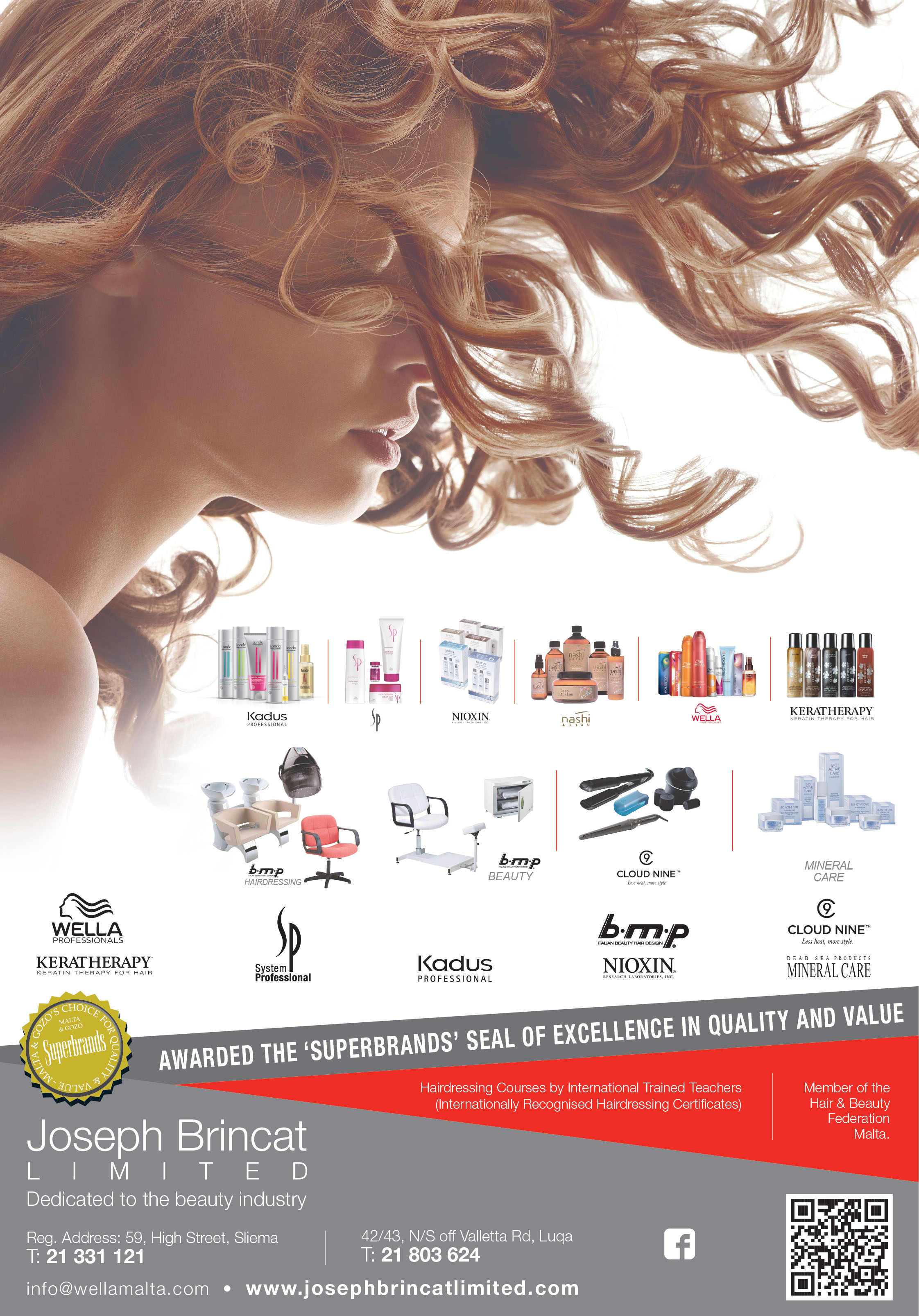 Joseph Brincat Ltd (Wella Professional Malta) - Hair Care Products