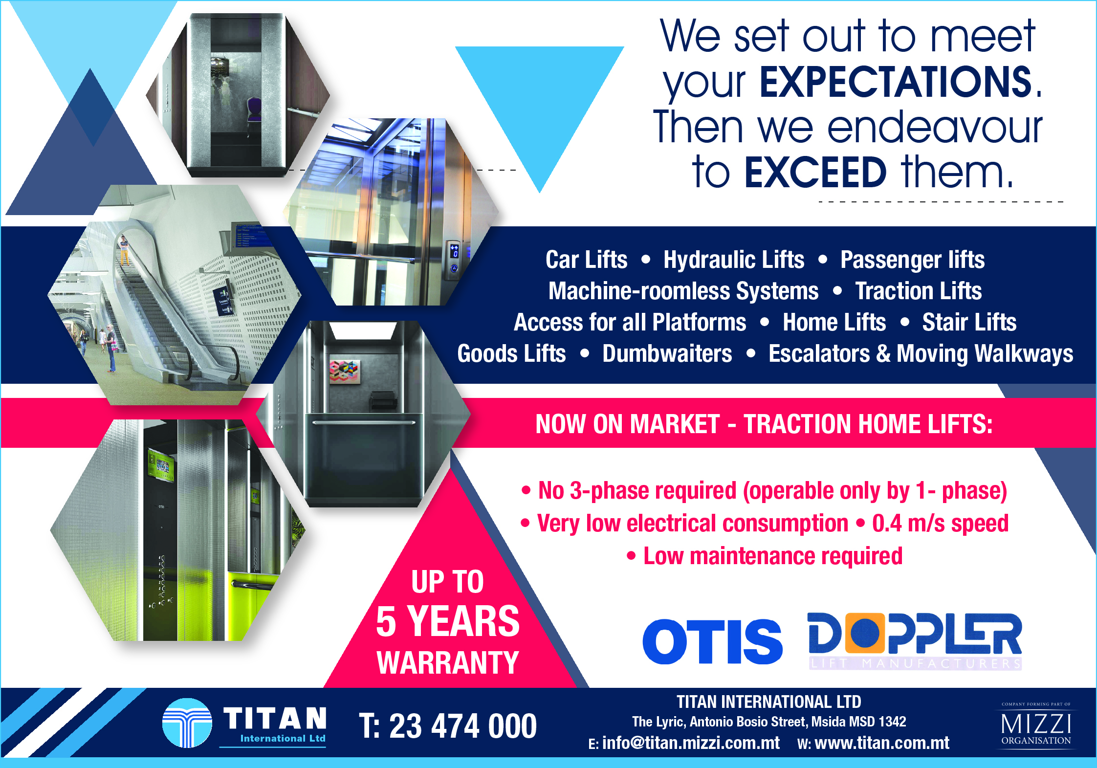 Titan International Ltd - Lifts & Escalators