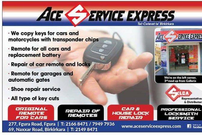 Ace Service Express Locksmiths In B Kara Malta Yellow Malta