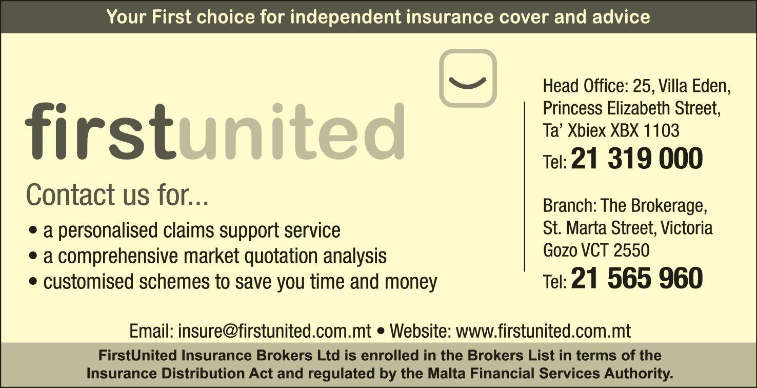 Firstunited Insurance Brokers Ltd Insurance Brokers In Ta Xbiex Malta Yellow Malta