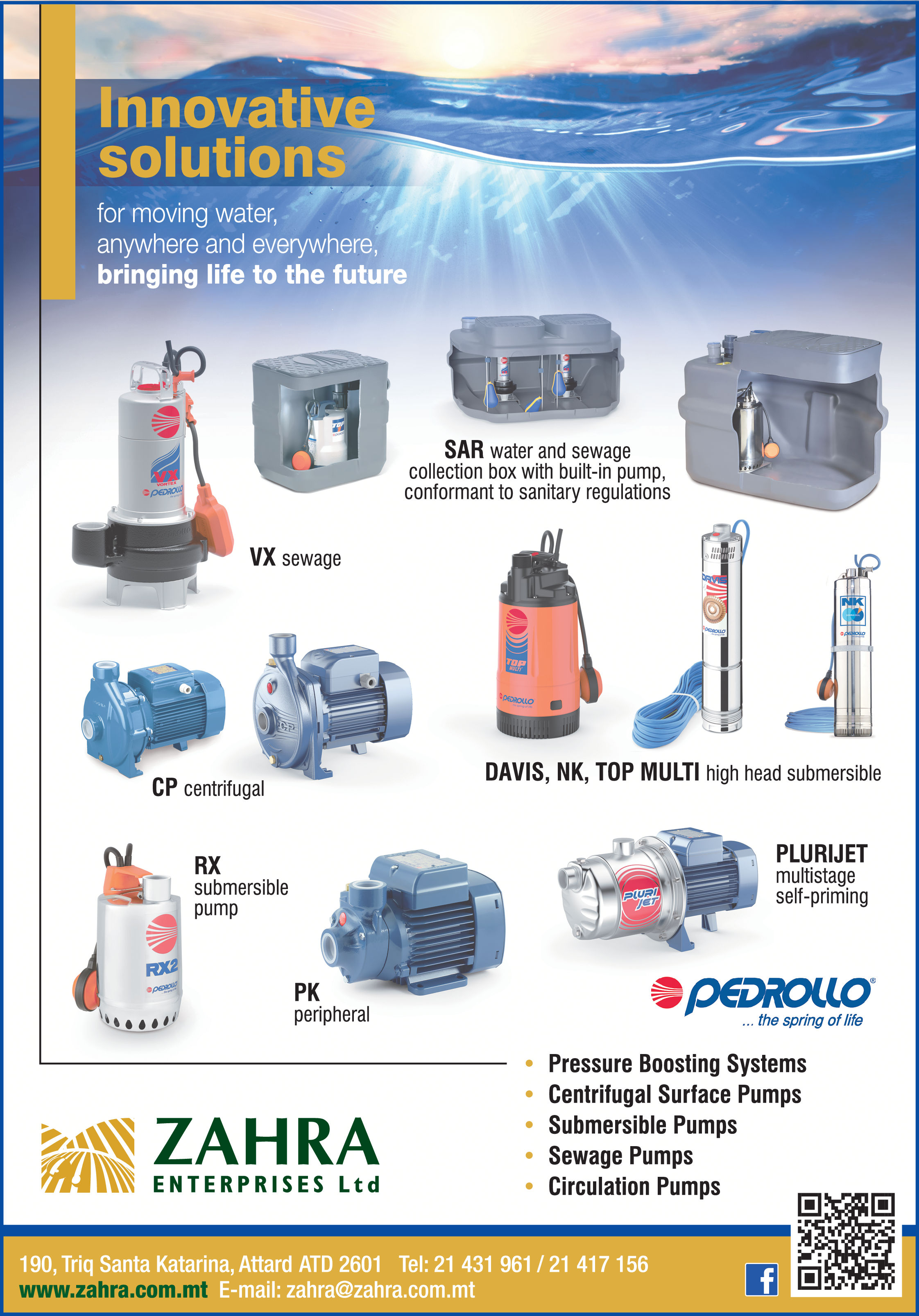 Pedrollo - Zahra Enterprises Ltd - Pumps