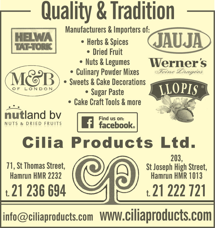 Cilia Products Ltd - Food Importers, Wholesalers & Mfrs in