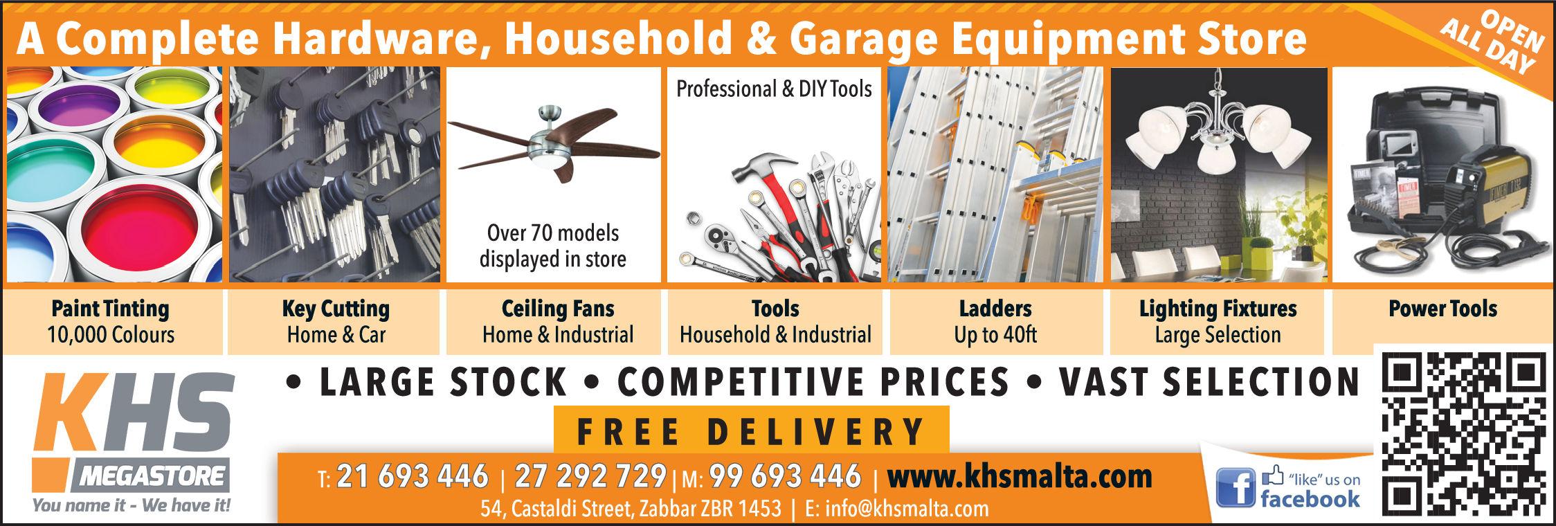 KHS Megastore - Ironmongery & Hardware Stores in Zabbar, Malta