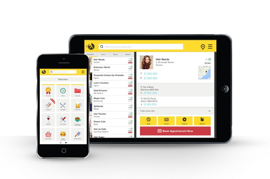 Yellow Malta Phone & Tablet App